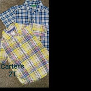 2-2T Toddler Button Down Shirts